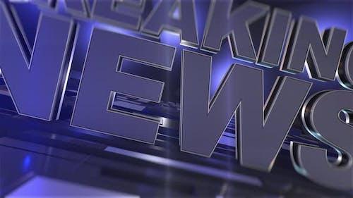 Breaking News intro. Broadcast News