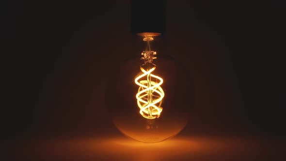Thumbnail for Edisons Vibrating Filament Yarn. Incandescent Lamp in Antique Style.