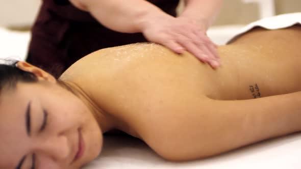 Thumbnail for Woman Enjoying Body Scrubbing in Hamam