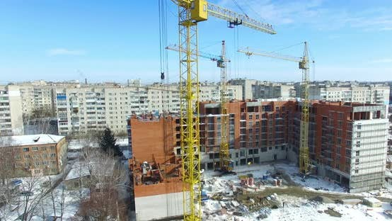 Thumbnail for Construction of Building in Winter