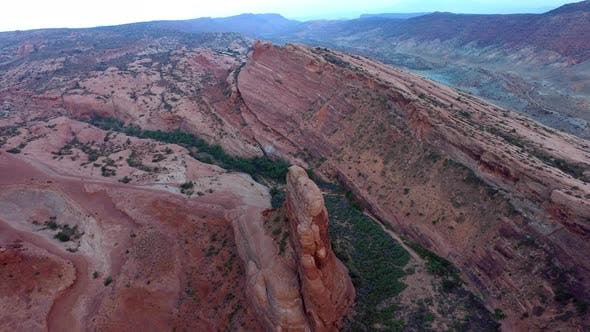 Thumbnail for Aerial view of sandstone formations at Arches National Park, Utah