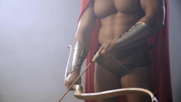 Thumbnail for Crop of Spartan Holding Bow and Arrow.