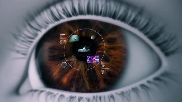 High Tech Eye Device (Smart Contact Lens) 4K