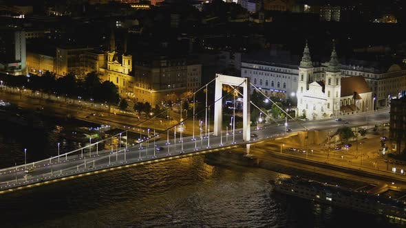 Thumbnail for Amazing Cityscape of Saint Stephen's Basilica and Chain Bridge in Hungary