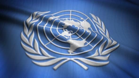 United Nations Flag Seamless Loop