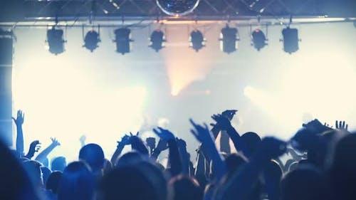 Underground Rap Music Konzertmenge