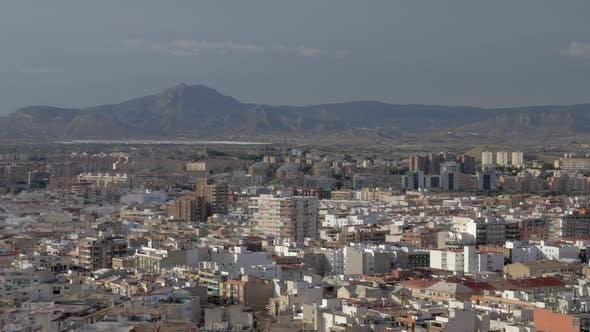 Thumbnail for An Aeral View of Sunny Alicante Against Beautiful Mountains