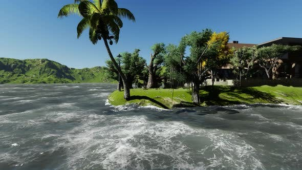 Thumbnail for Tropical golf course and beach