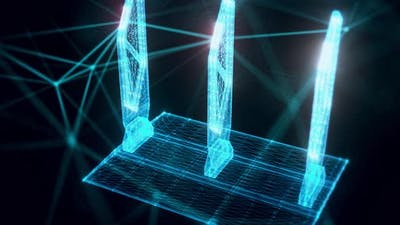 Security Gates Hologram Close Up 4K