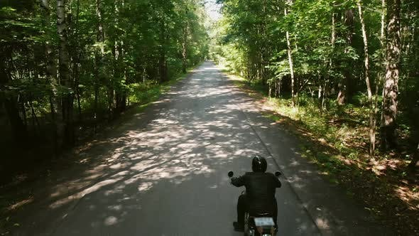 Thumbnail for Two Motorcyclists Riding Motorbikes in the Forest