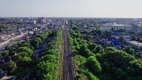 Railway and Bridge in the City