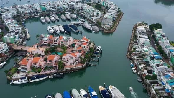 Thumbnail for Top view of Hong Kong yacht club in Sai Kung
