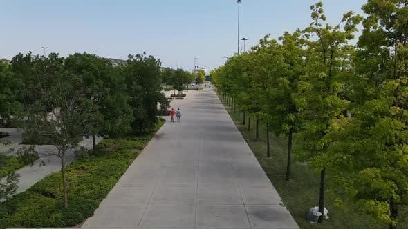 Thumbnail for People Walking Park
