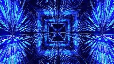 Blue VJ Tunnel Loop