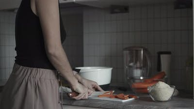 Woman Preparing Dinner At Home