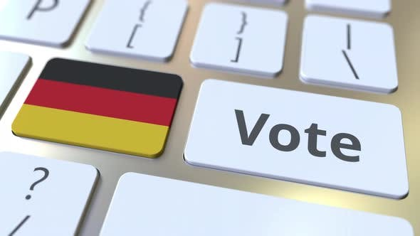 Thumbnail for VOTE Text and Flag of Gemany on the Buttons on Keyboard