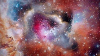 Flying through nebula
