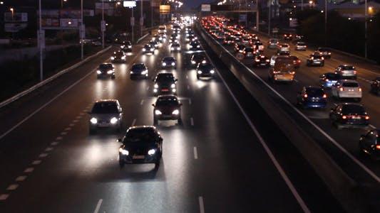 Thumbnail for Night Traffic Time Lapse 02