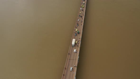 Thumbnail for Africa Mali River And Bridge Aerial View 7