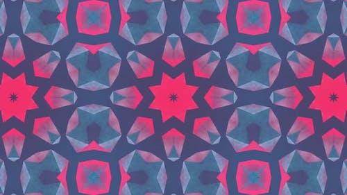 Magenta Cyan Star VJ Loop Background