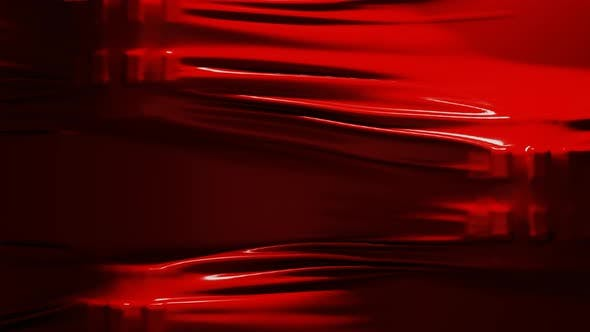 Thumbnail for Red Color Textile Fabric Seamless Looping Background Moving Slowly