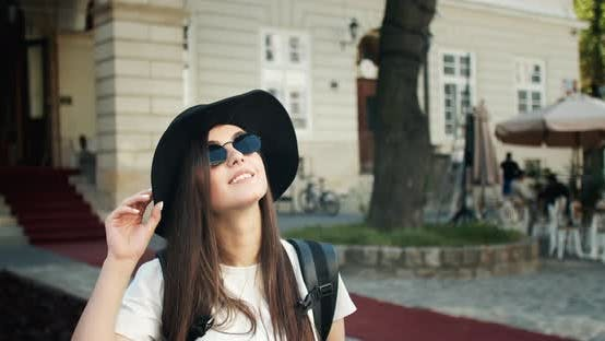 Thumbnail for Tourist Girl Taking Photo on Smartphone