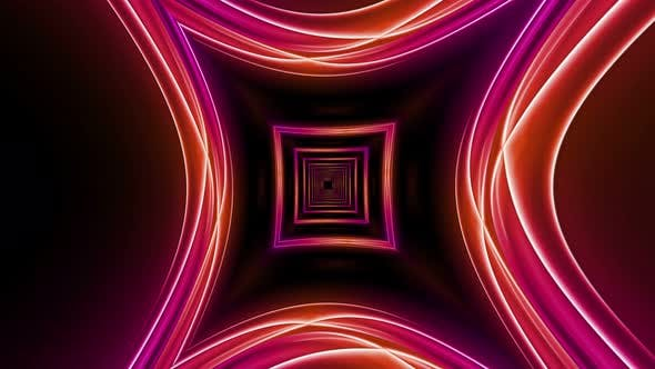 Thumbnail for Neon Psychedelic Squares Tunnel