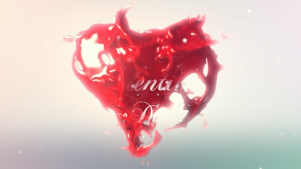 Thumbnail for Valentines Heart Logo Reveal