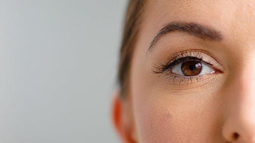 Close Up on Beautiful Girl Eye While Posing