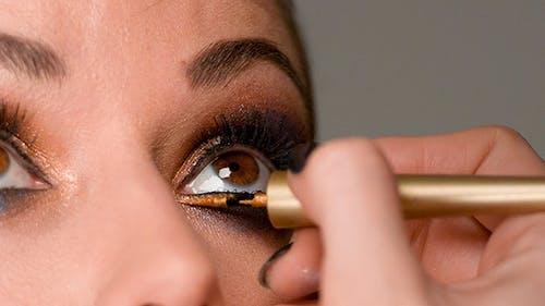 Makeup Artist Doing Eye Makeup