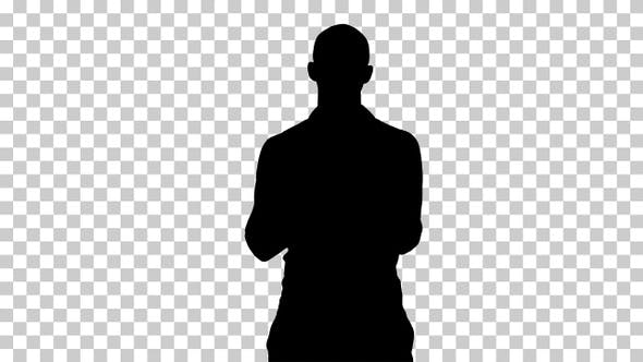 Silhouette man standing, Alpha Channel