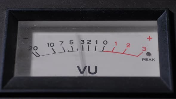 Thumbnail for Display of VU Meter Working in Recording Studio