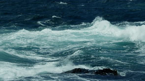 Thumbnail for Surf on Rocks with Stormy Ocean Waves