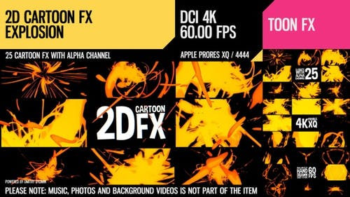 2D Cartoon FX (Explosion Set 5)