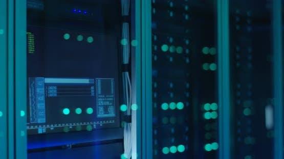 Close Up Shot of Server Racks