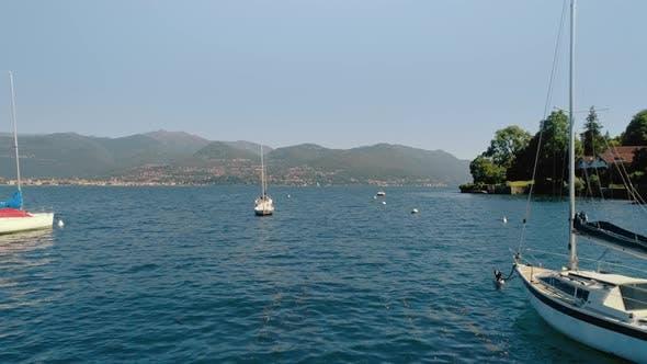 Boats and Yachts Docked in Italian Coast Marina