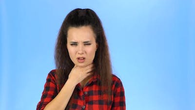 Woman Is Coughing and Sneezing