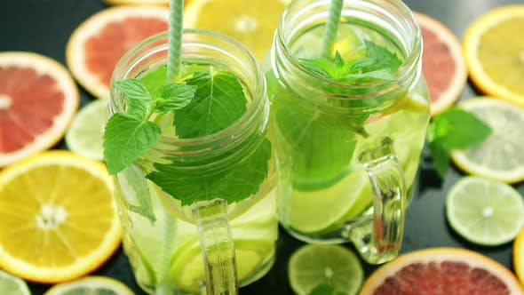 Glasses of Citrus Lemonade
