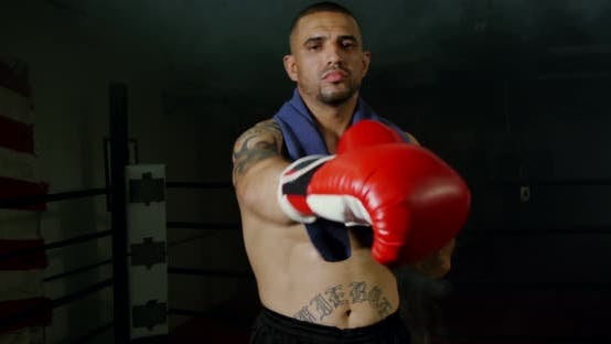 Thumbnail for Man Looking Aggressive With Boxing Gloves 22