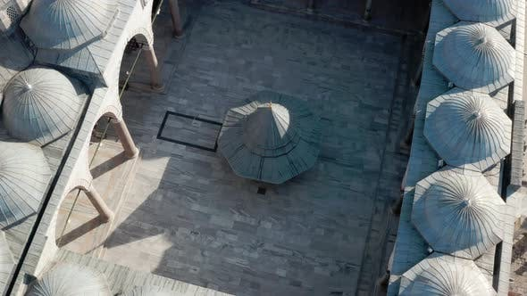 Fatih Mosque Courtyard Aerial View
