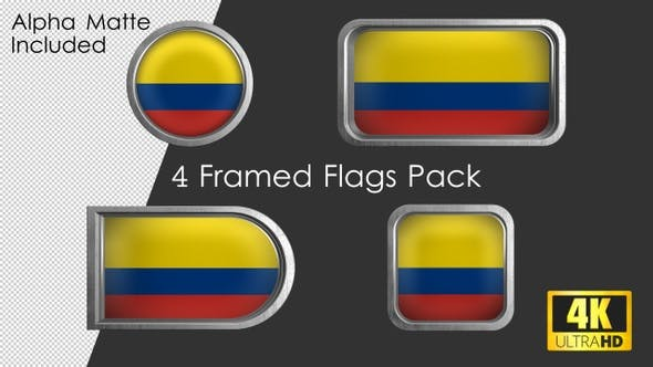 Thumbnail for Framed Colombia Flag Pack