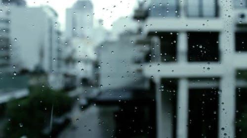 Rainy Day Seen Through Window