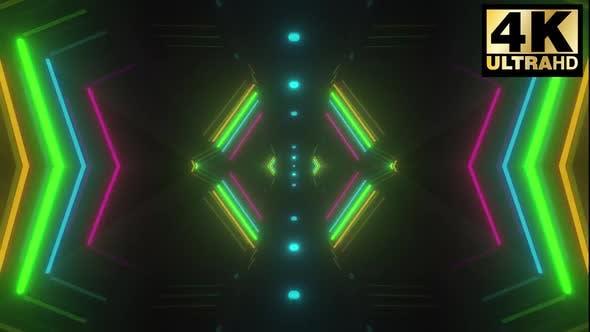Thumbnail for 4 Neon Corridor Vj Loop Pack 4k