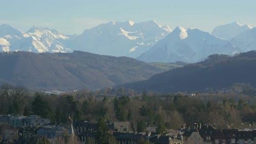 Pan left of Bernese Alps