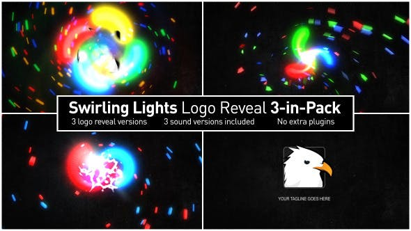 Thumbnail for Swirling Lights Logo Reveal 3-in-Pack