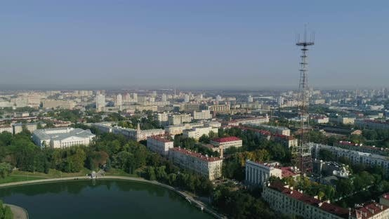 Thumbnail for Morning in Minsk City Center Capital of Belarus Housing Area