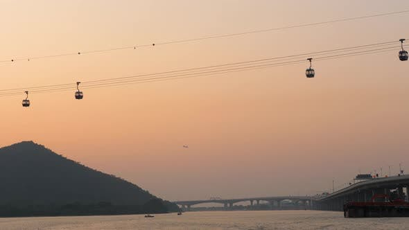 Thumbnail for Cable Car To Big Buddha in Lantau Island at Sunset