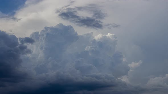 Thumbnail for Dramatic Sky with Stormy Clouds, Natural View, Timelapse
