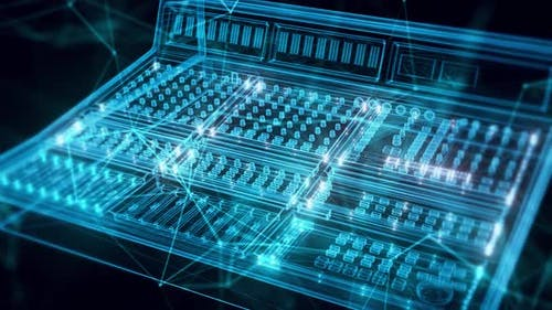 Sound Mixer Hologram Close Up Hd