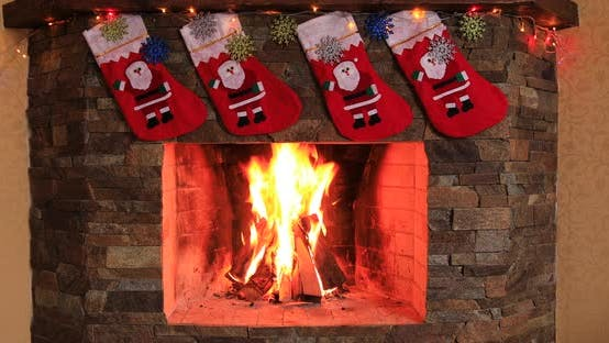 Thumbnail for Fireplace with Beautiful Christmas Decorations